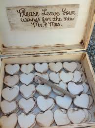 wedding wishes box rustic wedding guest book alternative by fallenstarcoutureinc