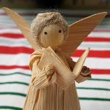 vintage corn husk doll decorative