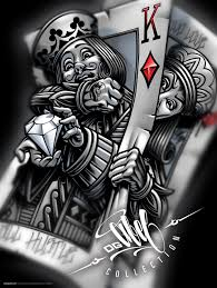 king queen of hearts gambling card tattoo design in 2017 real