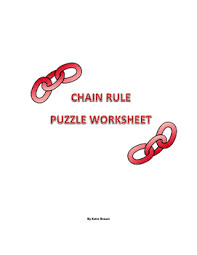 chain rule puzzle worksheet by katie brown u0027s math puzzle worksheets