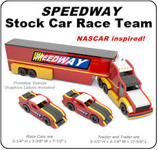 Free Wooden Toy Plans Patterns by Speedway Stock Car Race Team Nascar Inspired Wood Toy Plan Set