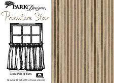 Black Ticking Curtains Cottage Striped 100 Cotton Curtains Drapes U0026 Valances Ebay