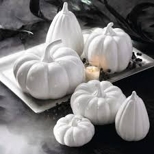 ceramic pumpkins white ceramic pumpkins set of six grandin road