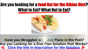 atkins diet food list youtube