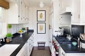 flooring galley kitchen ideas in beach style kitchen with antique