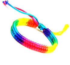 friendship bracelet rainbow images Eclectic shop uk gay pride rainbow wristband lesbian friendship jpg