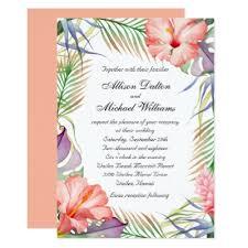 hawaiian themed wedding invitations watercolor tropical luau graduation party invite zazzle