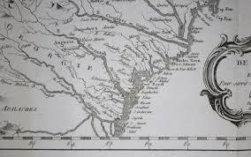 Map Of Carolinas 1757 Map Of Carolina And Georgia France Bellin Chadbourne