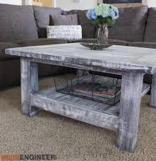 Woodworking Plans For Coffee Table by Square Coffee Table W Planked Top Free Diy Plans