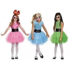 Powerpuff Girls Halloween Costumes Powerpuff Girls Deluxe Costume Halloween Fancy Dress Ebay