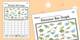 dinosaur bar graph activity worksheet graph activity