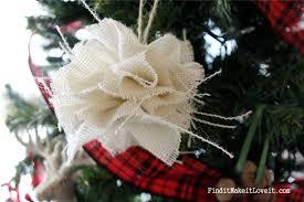diy burlap tree ornament find it make it it
