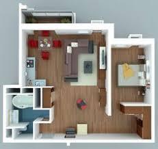 appartement 1 chambre 50 plans en 3d d appartement avec 1 chambres flats house and
