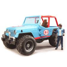 blue jeep 16th blue jeep cross country racer w driver by bruder