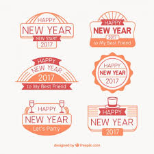 new year sticker set of 2017 new year stickers with messages vector free