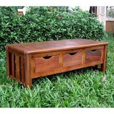 Outdoor Bench With Storage Teak Storage Benches Foter