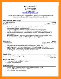 Orthodontic Resume Dental Assistant Resume Samples Smart Resume Sample Resume