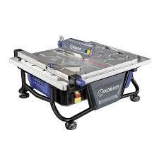 sliding table tile saw kobalt 7 in wet dry tabletop sliding table tile saw with stand
