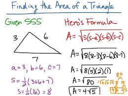 Area Formula by Area Of Triangle Hero U0027s Formula Math Geometry Area Showme