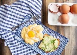 cloud eggs with avocado toast pine and crave
