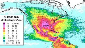 map of mexico and america mexico has highest rate of from lightning strikes in the