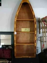 Canoe Shaped Bookshelf Row Boat Shaped Bookcase