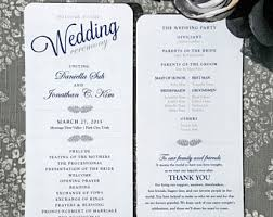 customizable wedding programs wedding programs printed etsy