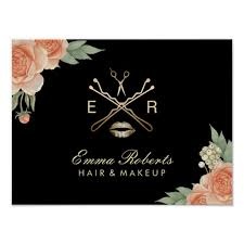 makeup hair salon makeup artist hair stylist vintage floral salon poster zazzle