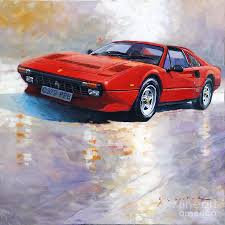 ferrari painting 1982 1985 ferrari 308 gts painting by yuriy shevchuk