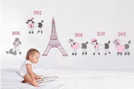 Eiffel Tower Wall Decals 200x70cm79x28 Jm7142 The Eiffel Tower Art Vinyl Wall Decor