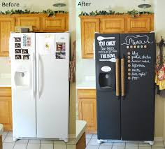 how to make your fridge look like a cabinet 10 cool ways to use chalkboard paint pohaki lumber