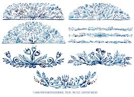 watercolor floral borders ornaments by swiejko thehungryjpeg