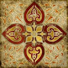 Home Patterns by 2015 India Gold Retro Ethnic Patterns Canvas Wall Art Home