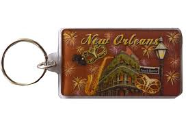 gifts from new orleans fireworks lucite keyring