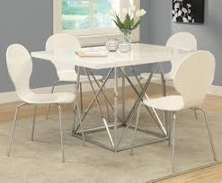 monarch specialties 1046 rectangular dining table in white