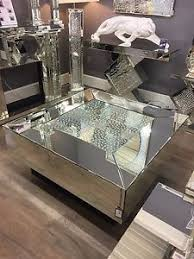 silver mirrored coffee table large square illusion mirrored coffee table silver floating glass