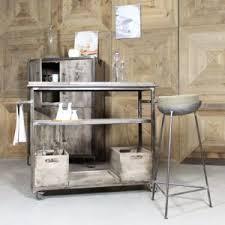 tabouret cuisine bois made in meubles tabouret de bar industriel en métal et coussin