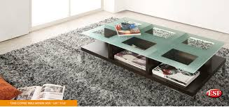 wenge frosted center glass wood living room table glass modern house