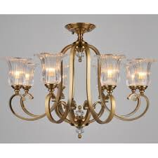 Shades For Chandeliers Or Edwardian Aged Brass Chandelier With Halophane Shades