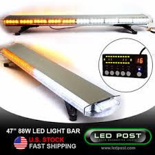 led security light bar 47 amber white 88w emergency led strobe roof security light bar