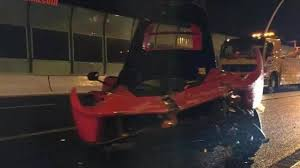 ferrari laferrari crash laferrari heavily wrecked after crashing in shanghai