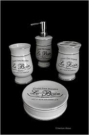 Paris Bathroom Set by Black And White Bathroom Accessories Bathroom Classic Black And