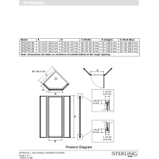 sterling sp2270a 38s intrigue silver shower doors efaucets com