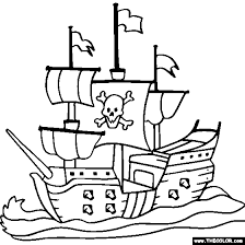 halloween pirates pictures color boat ship speedboat