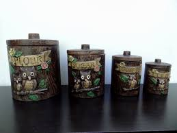owl canisters for the kitchen canisters amazing owl canisters for the kitchen canister sets
