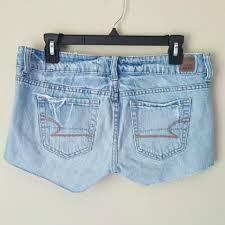light wash denim shorts american eagle outfitters light wash denim shorts size 27 4 s