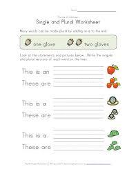 single plural worksheet places to visit pinterest plurals