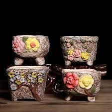 planter cute hand painted succulent plants flower pot classical