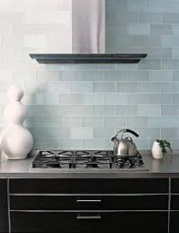 Kitchen Backsplash Glass Tiles Frosted Sky Blue Glass Subway Tile Kitchen Backsplash Subway