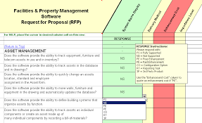 Property Management Excel Template Facility Management Software Evaluation Selection Property